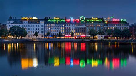 Copen Hd Picture by Photos Denmark Copenhagen Reflection Rivers Evening Cities