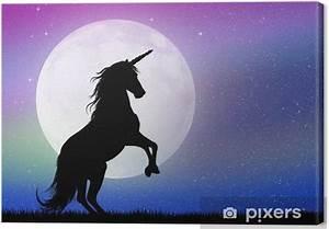 Leinwandbild Einhorn Im Mondschein Pixers Wir Leben