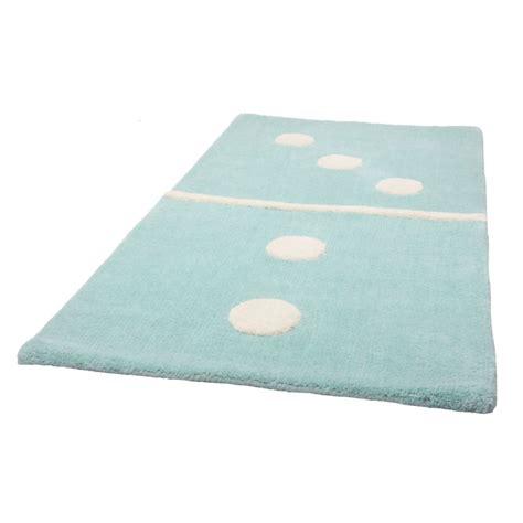 tapis enfant bleu domino 3 2 60x120