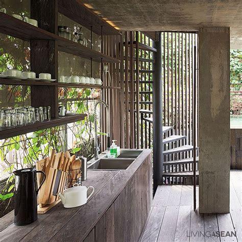 modern tropical home  indonesia casas arquitectura