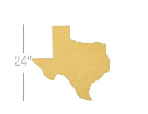 Texas State Unfinished Wooden Shape, Paintable Wooden