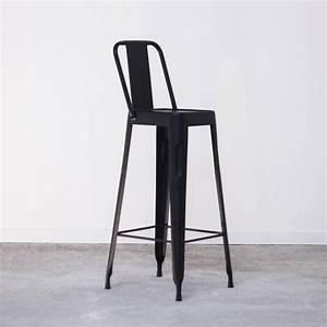 Chaise Haute Metal : chaise haute noire de bar style tolix pas cher en m tal ~ Teatrodelosmanantiales.com Idées de Décoration