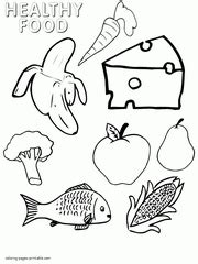 healthy food coloring pages food groups