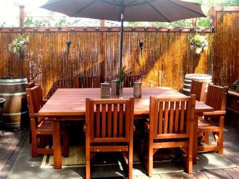 woodwork redwood patio furniture  plans