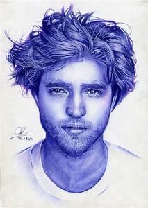 Robert Pattinson- ballpoint pen drawing by Thanh-KaMi on ...