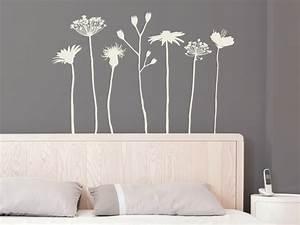 Bilder Für Schlafzimmer Wand : wandtattoo wiesenblumen von ~ Sanjose-hotels-ca.com Haus und Dekorationen