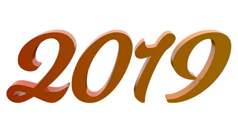 2019 New Year Free 3d Text Illustrations
