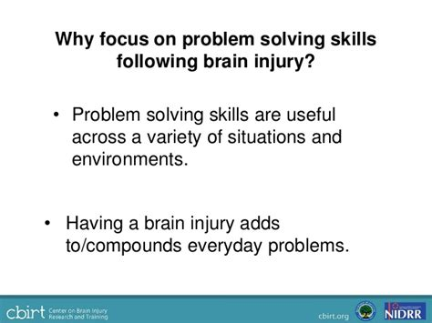 Problem Solving In Everyday Life Following Brain Injury Current Rese…