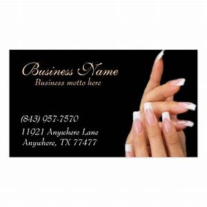 Custom black nail salon business cards zazzle for Nail salon business card