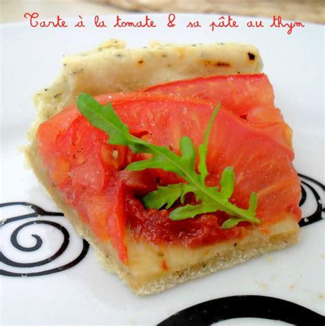 tarte 224 la tomate et sa p 226 te au thym tartes sans fromage