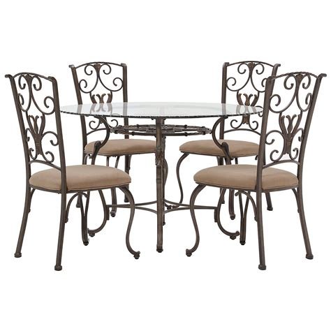 westcot2 glass table 4 chairs