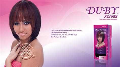 Outre 100% Human Hair & Premium Mix Duby Xpress Weave