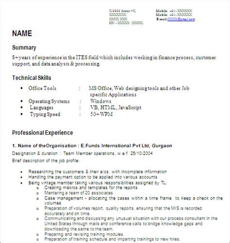 mis developer senior reporting analyst free resume