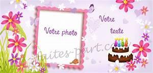 Carte De Voeux Gratuite A Imprimer Personnalisé : carte d 39 invitation pour anniversaire adulte avec photo pour femme ~ Louise-bijoux.com Idées de Décoration