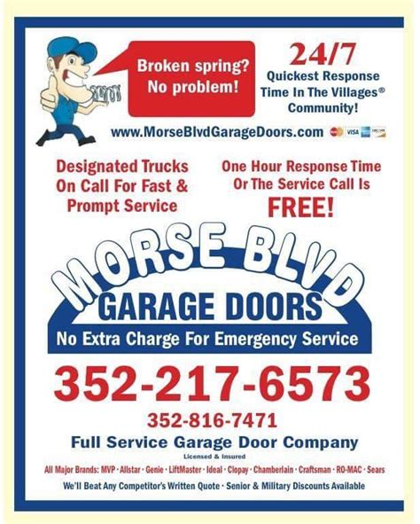 Garage Door Torsion Springs Jacksonville Fl by Garage Door Remotes The Villages Transmitters Keypads