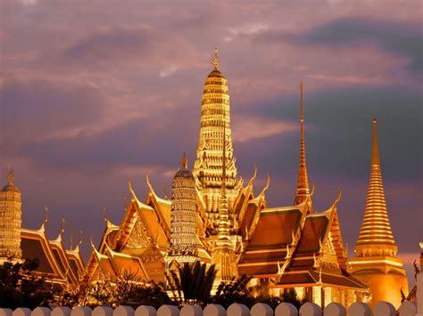 gold temple  emerald buddha trees bangkok thailand