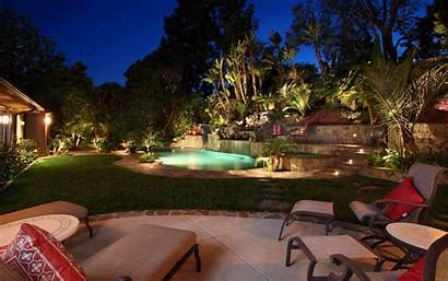 Backyard Landscape Garden Pool Swimming Estate Cool