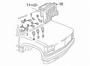 Chevrolet S10 Blazer Accessory Power Relay  Components