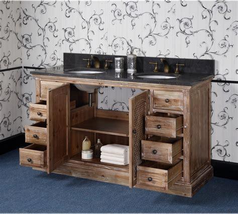 rustic double sink vanity antique wk series 60 inch rustic double sink bathroom