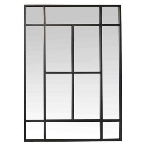 pot rangement cuisine miroir rectangulaire en métal noir 100x140cm factory