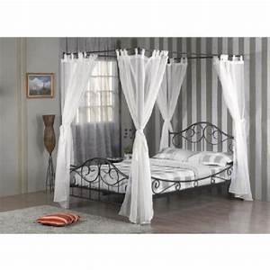 Rideau Lit Baldaquin : chambre coucher lit en m tal baldaquin shelby sommier rideau ~ Teatrodelosmanantiales.com Idées de Décoration