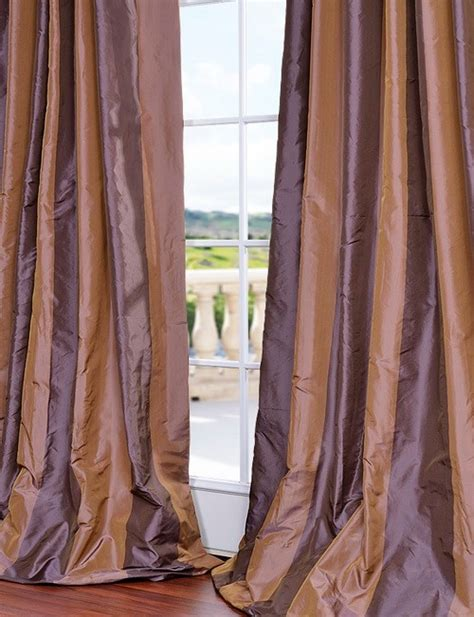 Silk Striped Drapes - verona faux silk taffeta stripe curtain ebay