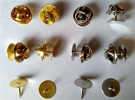 brass scatter blank pad tie tacks tacs pin  clothes jewelry finding brooches ebay