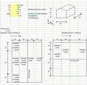 Flachdach Neigung Berechnen : formularis windlast auf wand dach nach din en 1991 1 4 xls tabelle f r windsog und winddruck ~ Themetempest.com Abrechnung
