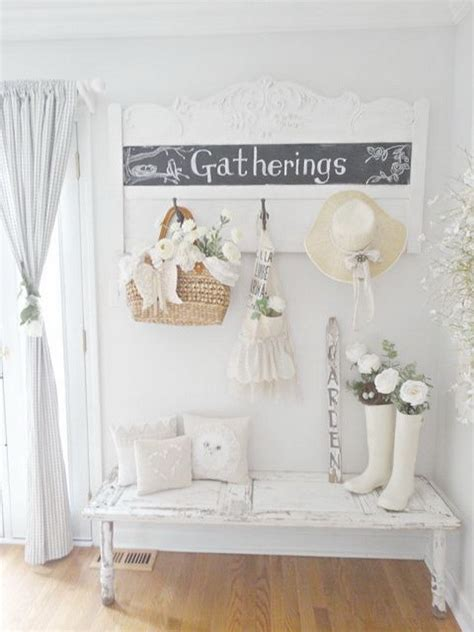 sweet cottage shabby chic entryway decor ideas