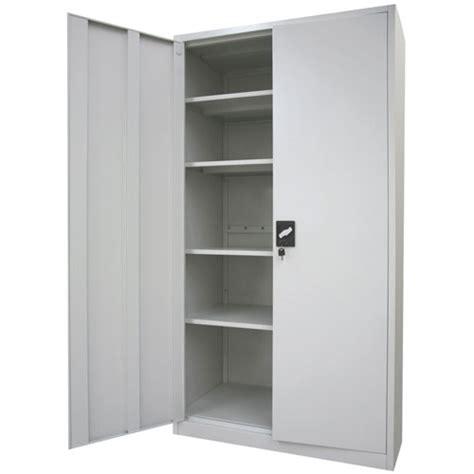 Metal Cabinet - stratco 2 door metal storage cabinet