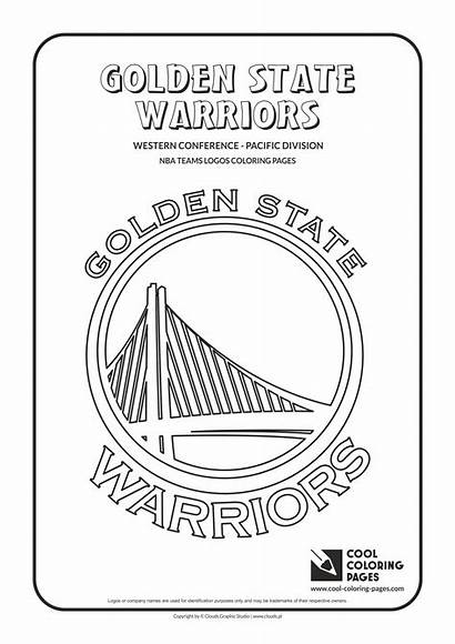 Coloring Nba Warriors Pages Basketball Golden State