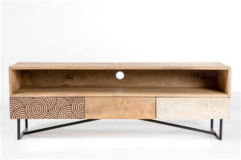 meuble de cuisine en bois pas cher cuisine meuble tv mã tal et bois ã tiroirs mango