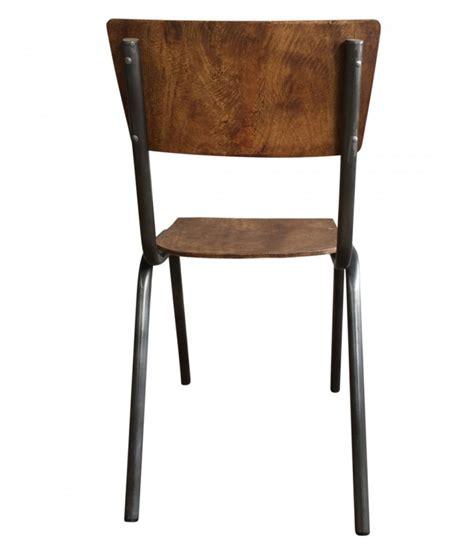chaise écolier chaise écolier vintage bois et métal adulte wadiga com