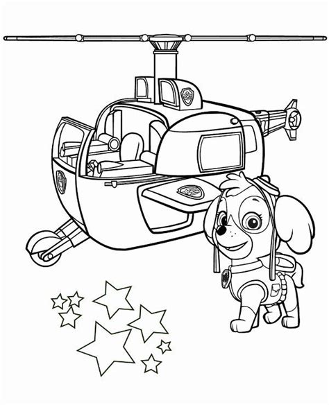 32 Skye Paw Patrol Coloring Page (With images) Paw