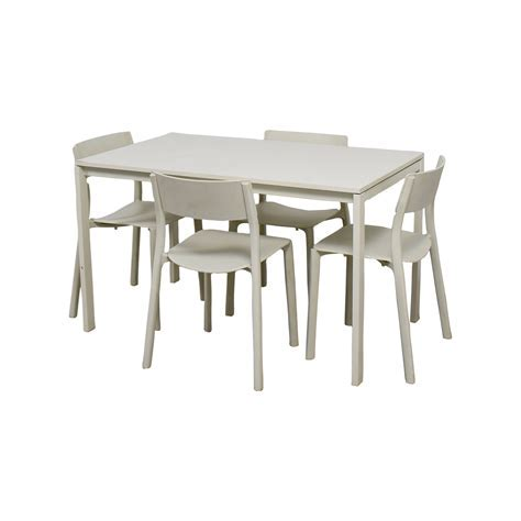 65% OFF   IKEA IKEA White Kitchen Table and Chairs / Tables