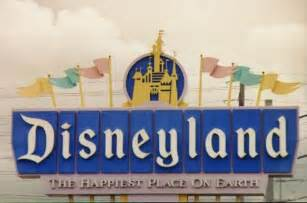 Disneyland Happiest Place On Earth Sign