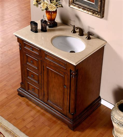 36 vanity with sink silkroad 36 inch antique single sink bathroom vanity cream