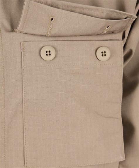 khaki long sleeve  pocket bdu shirt polyestercotton