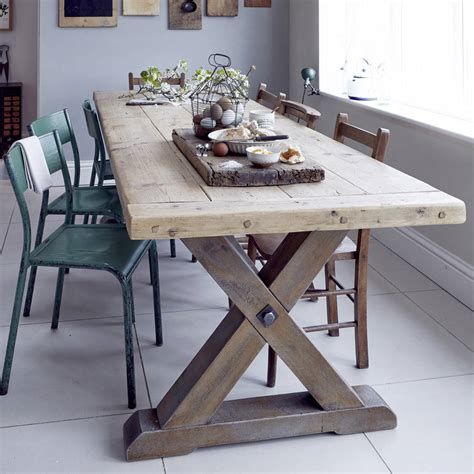 reclaimed timber country dining table  home barn