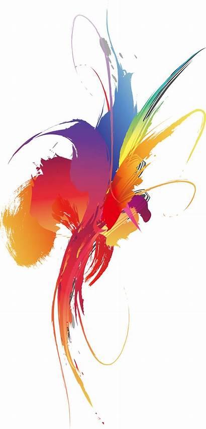 Splash Graphic Clipart Colorful Smear Transparent Multicolored