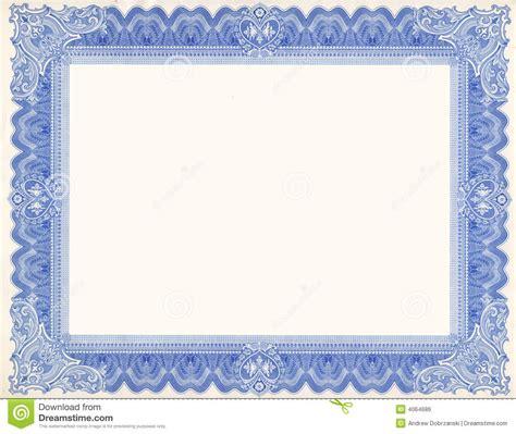 cadre de certificat image libre de droits image 4064686