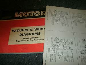 1972 1973 Chevrolet Vega Wiring Diagrams Schematics Manual
