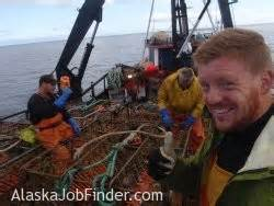 alaska deckhand work on a commercial fishing boat