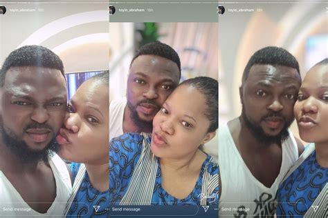 Actress Toyin Abraham shares loved up photos with her ...