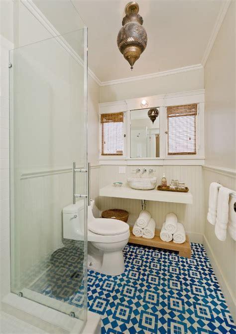 Moroccan Tiles   Mediterranean   bathroom   Brown Design