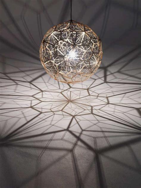 beautiful pendant lamp  pentagon frame sphere etch