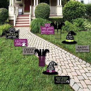 Happy, Halloween, -, Lawn, Decorations, -, Outdoor, Witch, Party, Yard, Decorations