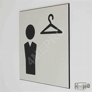 Plaques De Portes : plaque de porte vestiaire hommes pictogramme 4mepro ~ Melissatoandfro.com Idées de Décoration