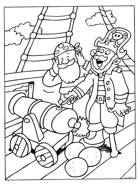Kleurplaat Piraten Schatkaart by Kleurplaat Piraten Schieten Met Kanon Kleurplaten Nl