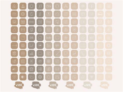 wallpaper aesthetic beige app icons ios 14